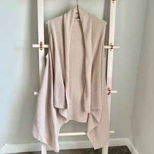 Merona Cream Long Cardigan Knit Vest